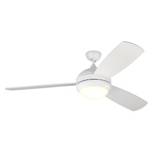 Discus Trio Matte White 58-Inch LED Indoor Outdoor Ceiling Fan