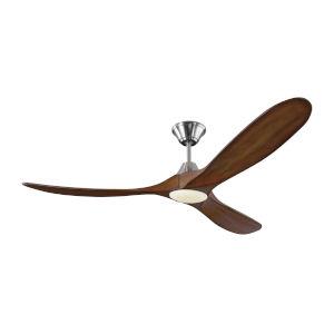 Maverick Brushed Steel Koa 60-Inch LED Ceiling Fan
