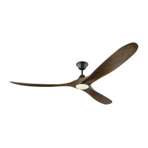 Maverick Matte Black 70-Inch LED Ceiling Fan