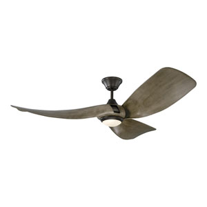 Melody Light Grey Weathered Oak 56-Inch LED Ceiling Fan