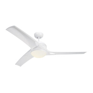 Mach One White 52-Inch LED Ceiling Fan