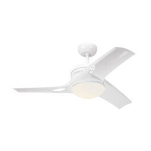 Mach Two White 38-Inch LED Ceiling Fan