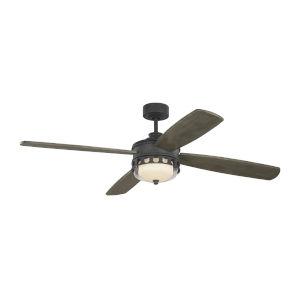 Lemont Dark Weathered Zinc 56-Inch DC Motor LED Ceiling Fan