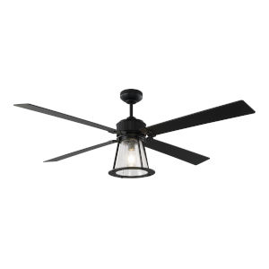 Rockland Midnight Black 60-Inch Ceiling Fan