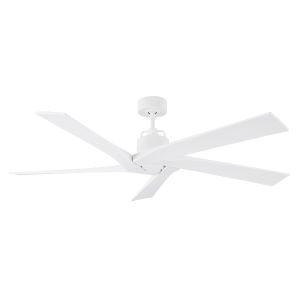 Aspen Matte White 56-Inch Indoor Outdoor Ceiling Fan