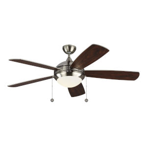 Discus Brushed Steel 52-Inch LED Ceiling Fan