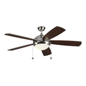 Discus Polished Nickel 52-Inch LED Ceiling Fan