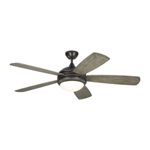 Discus Ornate Aged Pewter 52-Inch LED Ceiling Fan