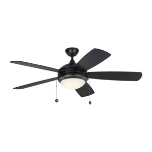 Discus Ornate Matte Black 52-Inch LED Ceiling Fan
