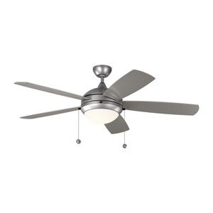 Discus Outdoor Painted Brushed Steel 52-Inch LED Outdoor Ceiling Fan