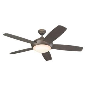Sleek Roman Bronze 52-Inch Two-Light Ceiling Fan