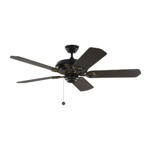 York Matte Black 52-Inch Ceiling Fan