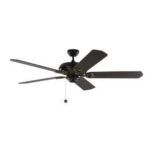 York Matte Black 60-Inch Ceiling Fan