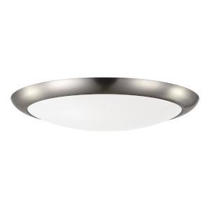 Brushed Steel 12-Inch Fan Light Kit