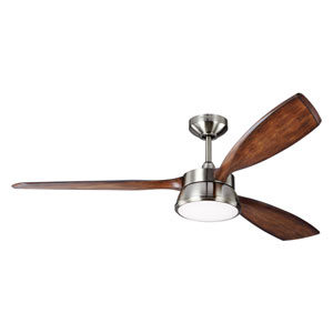 Destin Brushed Steel LED Ceiling Fan