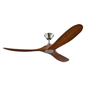 Maverick Brushed Steel Ceiling Fan