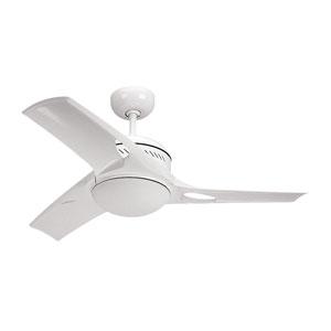 Mach Two 38-Inch White Ceiling Fan