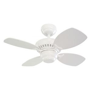 Colony II 28-Inch White Ceiling Fan