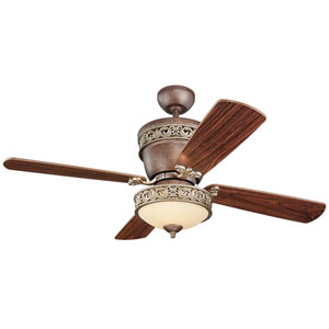 Villager Tuscan Bronze 42/28-Inch Ceiling Fan with American Walnut Blades