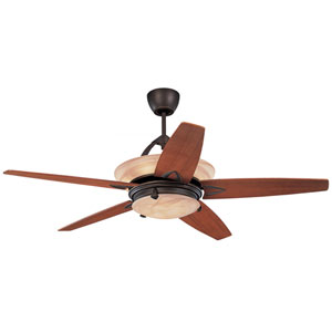 Arch Roman Bronze 60-Inch Ceiling Fan with Remote, Uplight and Light Kit