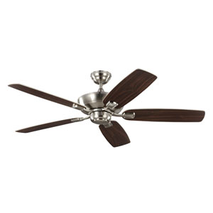 Colony Max Brushed Steel 52-Inch Ceiling Fan