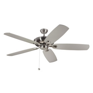 Colony Super Max 60-Inch Brushed Steel Ceiling Fan