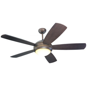 Discus 52-Inch Brushed Steel Ceiling Fan