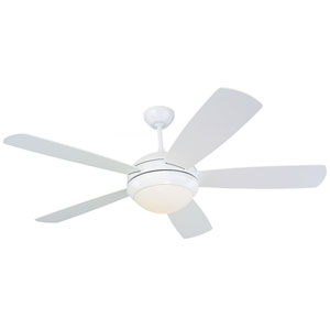Discus 52-Inch White Ceiling Fan