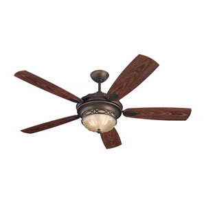 Edwardian Roman Bronze 56-Inch Outdoor Ceiling Fan