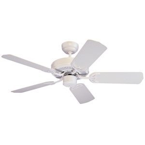 Homeowners Select 42-Inch White Ceiling Fan