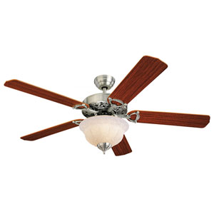Ornate Elite 52-Inch English Pewter Ceiling Fan