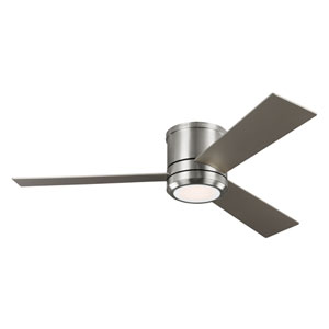 Clarity Max Brushed Steel 56-Inch One-Light LED Ceiling Fan