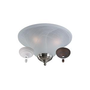 White Faux Alabaster Bowl Light Kit