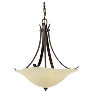 Morningside Grecian Bronze Three-Light Uplight Pendant