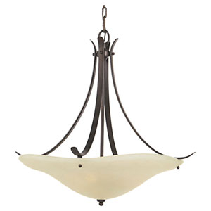 Morningside Grecian Bronze Three-Light Bowl Pendant
