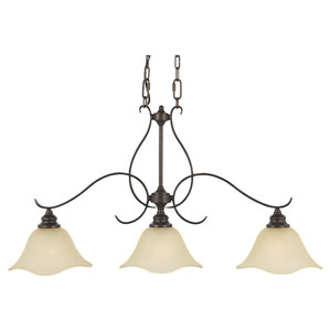 Morningside Grecian Bronze Three-Light Island Pendant