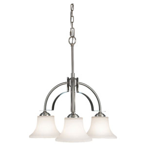 Barrington Brushed Steel  Three-Light Chandelier