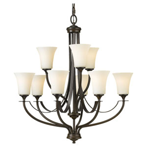 Barrington Oil Rubbed Bronze Nine-Light Multi-Tier Chandelier