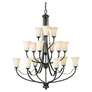 Barrington Oil Rubbed Bronze 15-Light Multi-Tier Chandelier