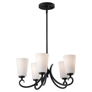 Peyton Black Five-Light Single Tier Chandelier