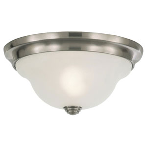 Vista Brushed Steel Indoor Flush Mount Fixture