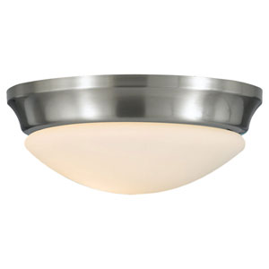Barrington Brushed Steel  Indoor Flush Mount Fixture