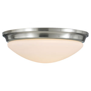 Barrington Brushed Steel  Two-Light Indoor Flush Mount Fixture