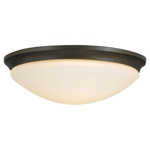 Barrington Oil Rubbed Bronze Three-Light Indoor Flush Mount Fixture