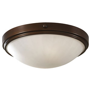 Perry Heritage Bronze Two-Light Flush Mount Fixture