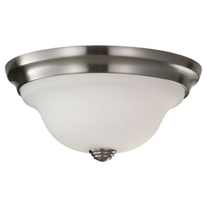 Beckett Brushed Steel Indoor Flush Mount Fixture