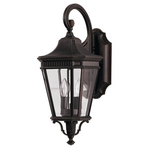 Cotswold Lane Grecian Outdoor Bronze Two-Light Wall Lantern