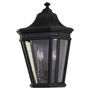 Cotswold Lane Black Outdoor Two-Light Wall Lantern