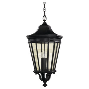 Cotswold Lane Black Outdoor Three-Light Pendant