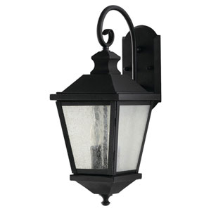 Woodside Hills Black Two-Light Outdoor Wall Lantern Light